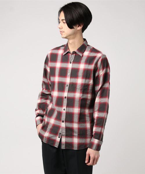 ファッションなデザイン 【セール】ヘリンボーンチェックシャツ(シャツ/ブラウス) セール,SALE,REPLAY Men