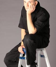 TCストレッチタイプライタージャンプスーツ(つなぎ/オールインワン)(UTILITY LINE)#