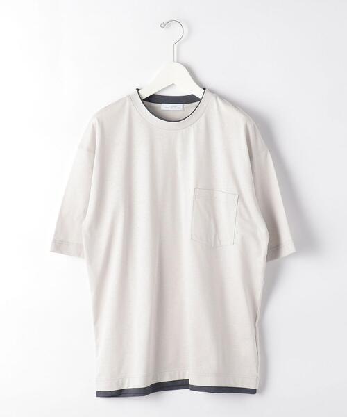 CSM C/LI フェイク レイヤード クルーネック 半袖 Tシャツ カットソー