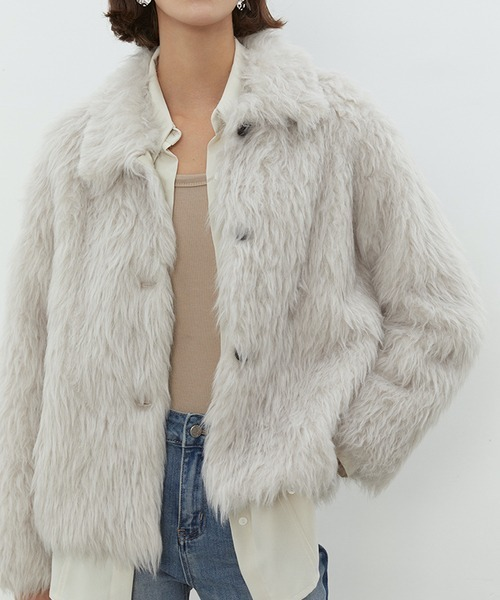 【UNSPOKEN】Shaggy fur jacket chw1453