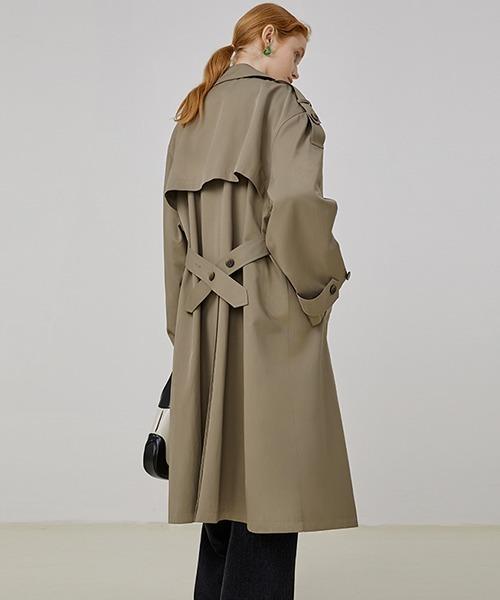 【Fano Studios】【2021AW】Lapel back slit trench coat FQ21W064