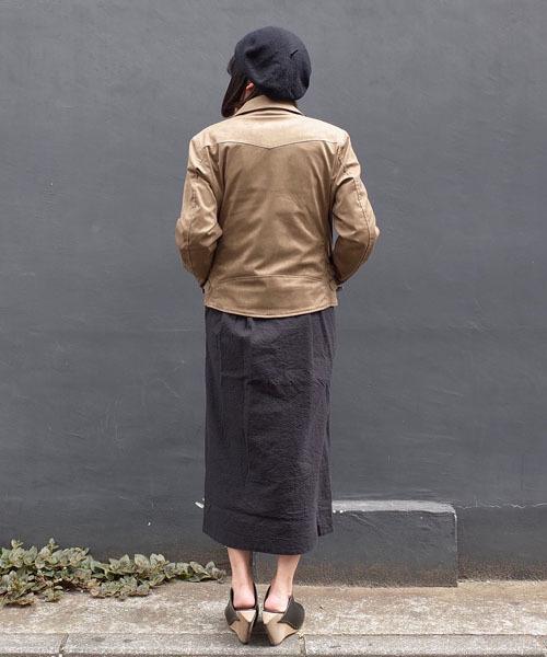 スエード ライダースジャケット<日本製>