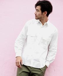 BAYFLOW(ベイフロー)のSOLOTEXムジワイドシャツ(シャツ/ブラウス)