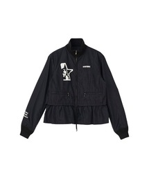 STAR WOMANスタンドカラージャケットブラック