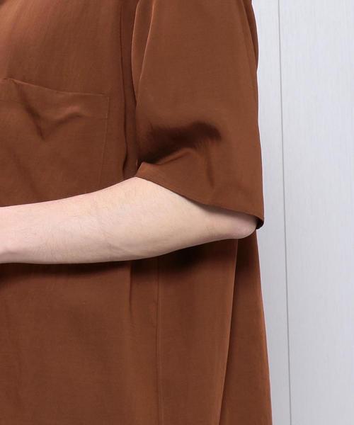 <H>RING SNAP BOX SHORT SLEEVE SHIRT/シャツ