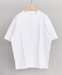 BY クリスピーコットン 樽型 ヘンリーネック Tシャツ