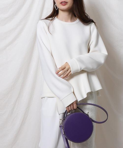 Re.Verofonna(ヴェロフォンナ)の「アシメトリーフリルボンディングプルオーバー(Tシャツ/カットソー)」|ホワイト