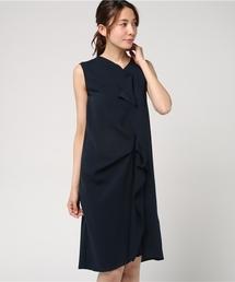 AIMER(エメ)の【traumerei luxus kleid】Vネックアシンメトリーワンピース(ドレス)