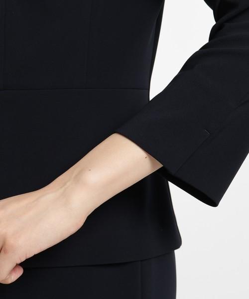【UVカット・洗える】ストレッチノーカラージャケット
