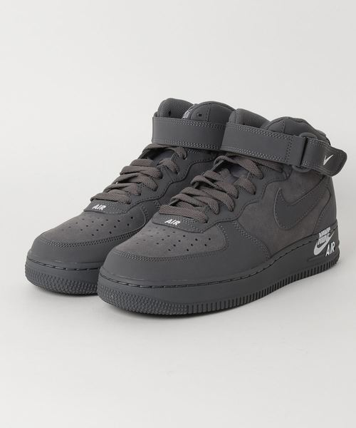 nike air force 1 mid 07 dark grey dark grey white スニーカー