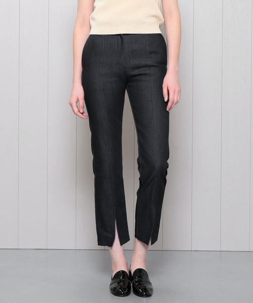 <H>DENIM FRONT SLIT PANTS/パンツ
