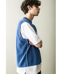 <monkey time> COTTON AZE CROPPED VEST/クロップドベスト
