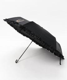 Maison de FLEUR(メゾンドフルール)のヒートカットフリル折りたたみ傘(折りたたみ傘)