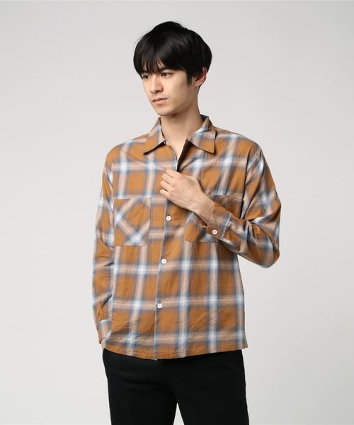 PENNEY'S/ペニーズ W-P OMBRE OPEN SHIRTS