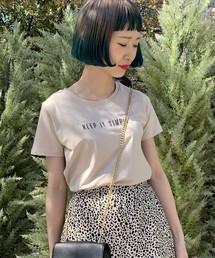 E hyphen world gallery(イーハイフンワールドギャラリー)のシンプルロゴプリントTシャツ ●(Tシャツ/カットソー)