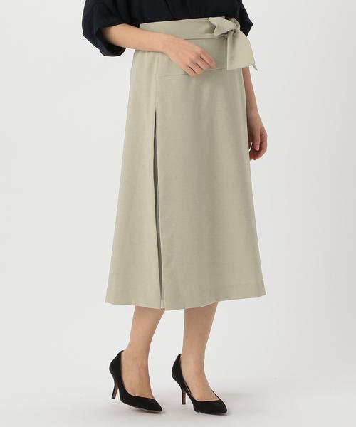 TIARA(ティアラ)の「サイドスリットチュールコンビスカート(スカート)」|グレー系その他