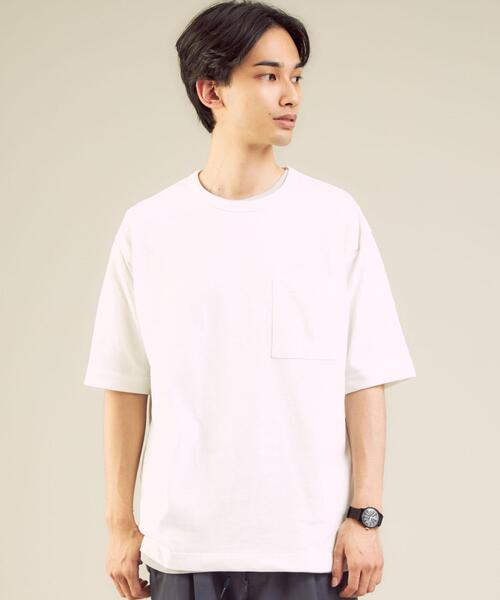 < 機能 / 吸水速乾 >ドライ ワッフル タンクトップ レイヤード クルーネック Tシャツ