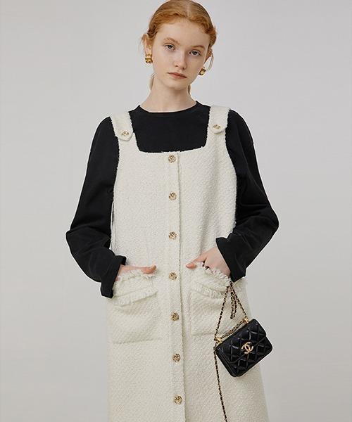 【Fano Studios】【2021AW】Wool tweed jumper skirt FQ21L017