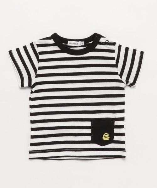 SLAP SLIP/eくん天竺ボーダーTシャツ