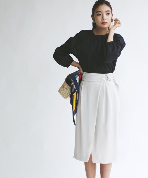 【EMMEL REFINES】〔ハンドウォッシャブル〕FC H/W PEツイルスカート-JSPBO