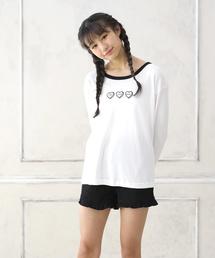 22dc3f7a795f0 LACEEQ(ラシーク)の「長袖Tシャツ&ショートパンツset(ルームウェア