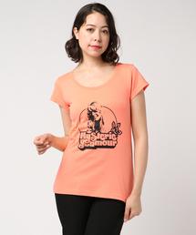 THE BEACH pt Tシャツオレンジ