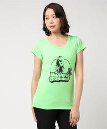 THE BEACH pt Tシャツグリーン