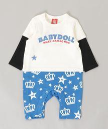 BABYDOLL(ベビードール)の袖レイヤード ロンパース 3028B(ロンパース)