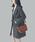 ABITOKYO(アビトーキョー)の「ウールグレンチェックビックシルエットジャケットコート(テーラードジャケット)」|ブラック