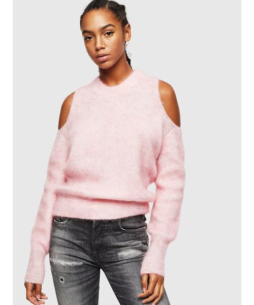 スーパーセール期間限定 レディース オープンショルダーモヘアニットトップス(ニット DIESEL/セーター)|DIESEL(ディーゼル)のファッション通販, コガネイシ:01fd7089 --- pyme.pe