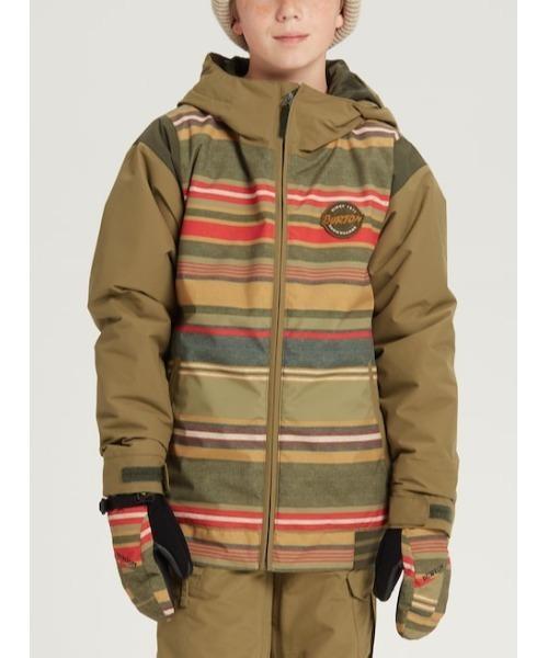 BURTON(バートン)の「<洗濯OK> KIDS ウィンター ジャケット (1サイズ拡張可能機能付き)(その他アウター)」|ブラウン×イエロー