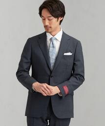 [ 御幸毛織 ] 撚杢 無地 2B SG NT HP- スーツ ジャケット