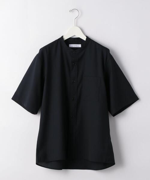 T/W トロ バギー バンドカラー 半袖 シャツ < 機能性 / ストレッチ ウォッシャブル >