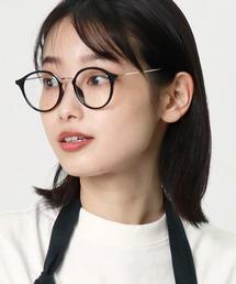 ボストン型伊達眼鏡 9557 SPIブラック