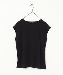 【ADVANCE LINE】バックタックフレンチスリーブプルオーバー(Tシャツ/カットソー)