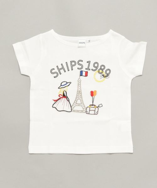 SHIPS KIDS:エンブロイダリー TEEシャツ(100~130cm)