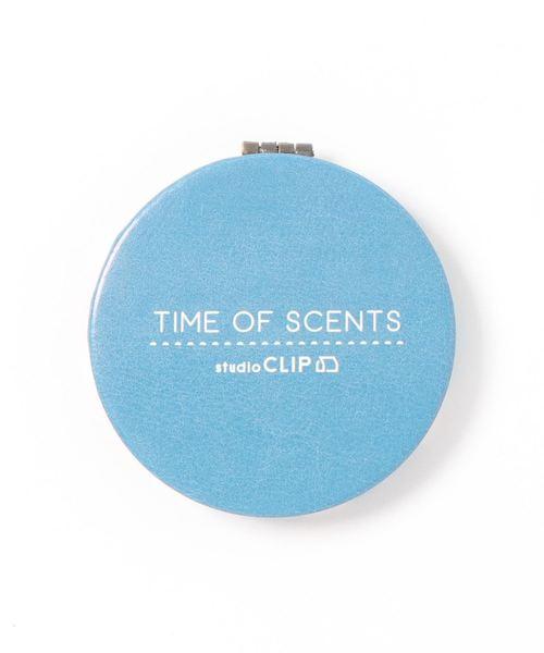 studio CLIP(スタディオクリップ)の「2WAYコンパクトミラー《TIME OF SCENTS》(手鏡/コンパクト)」|スカイブルー