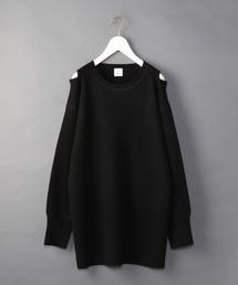 <6(ROKU)>SHOULDER 2HOLE KNIT/ニット