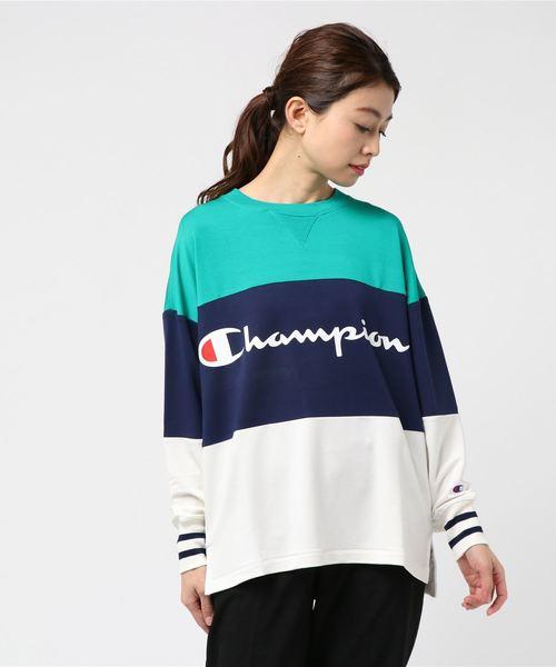 【CHAMPION】切替スウェット