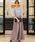 Fashion Letter(ファッションレター)の「レーストップスサイドプリーツセットアップ 結婚式ワンピース パンツドレス(ドレス)」|グレー