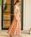 Fashion Letter(ファッションレター)の「レーストップスサイドプリーツセットアップ 結婚式ワンピース パンツドレス(ドレス)」|オレンジ
