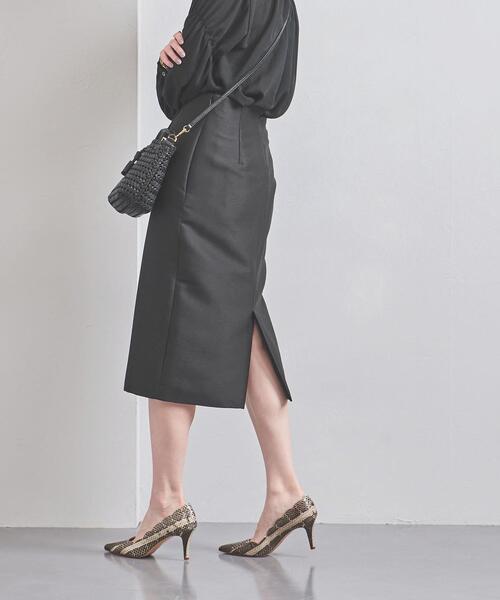 UNITED ARROWS(ユナイテッドアローズ)の「UBCB W/SI ハイウエスト タイトスカート(スカート)」|ブラック
