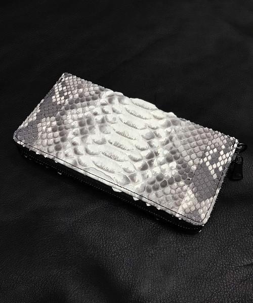 DECADE(ディケイド)の「パイソンレザー ラウンドジップウォレットDECADE(No-00315R) Python Leather Round Wallet ディケイド(財布)」|ホワイト