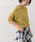 URBAN RESEARCH ROSSO WOMEN(アーバンリサーチ ロッソ)の「アシメデザインガーターホールニット(ニット/セーター)」|イエロー