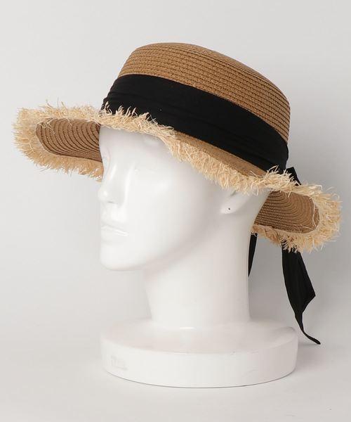 リボンカンカン帽