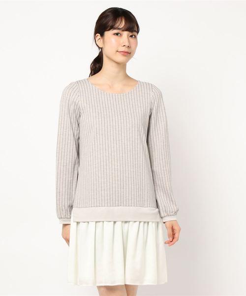 正規代理店 日本製 チュール×サテンスカートドッキングワンピース, HYカンパニー a83e7582