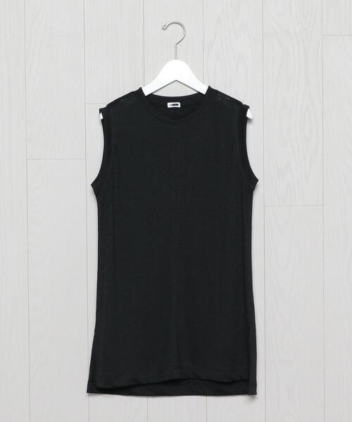 <H>NO SLEEVE PULLOVER/カットソー