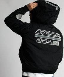 AVIREX(アヴィレックス)のAVIREX/アヴィレックス/ ワーム ラインド フーディー MA-1/ WARM LINED HOODIE MA-1 【AVIREX STREET GEAR/ FIELD】(ブルゾン)