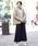 FELLINI(フェリーニ)の「裏ベロアイージーマキシスカート(スカート)」|ネイビー