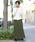 FELLINI(フェリーニ)の「裏ベロアイージーマキシスカート(スカート)」|カーキ